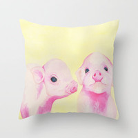 Baby Piglets Throw Pillow by haleyivers | Society6
