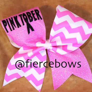 Pinktober Breast Cancer Awareness Cheer Bow