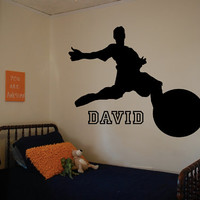 Custom Soccer Player Decal - Personalized - Wall Art - Kids Room - Custom Kid Name - Custom Decal - Gift Idea - Kids Room Decor - Playroom