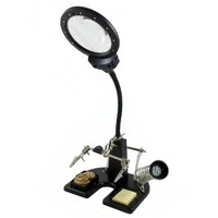 Pro-Line Helping Hands Soldering Station with Illuminated Magnifier