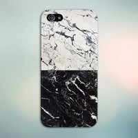 Cracked White x Black Marble Split Design Phone Case for iPhone 6 6 Plus iPhone 5 5s 5c 4 4s Samsung Galaxy s6 s5 s4 & s3 and Note 5 4 3