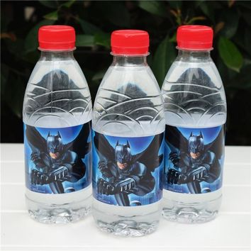 Batman Dark Knight gift Christmas 12pcs Avengers Batman water bottle label candy bar kids birthday party supplies baby shower party favor AT_71_6