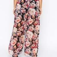Alice & You Floral Print Palazzo Pant - Multi