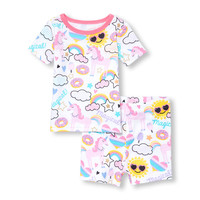 Baby And Toddler Girls Short Sleeve 'Magical' Unicorn Printed Top And Bottom PJ Set | The Children's Place