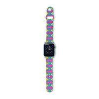 "Empire Ruhl ""Delilah"" Red Pattern Apple Watch Strap"