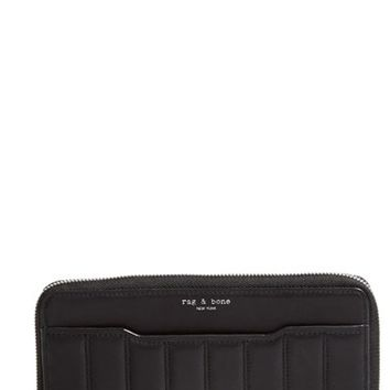 Women's rag & bone 'Crosby' Quilted Leather Continental Wallet - Black