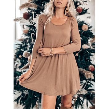 COZY AT HOME TUNIC DRESS