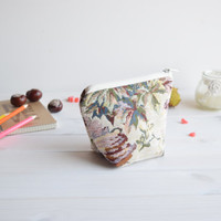 Charger bag with zipper, Charger case, Cosmetic pouch, Make Up Pouch, Toiletery bag, Project bag, Travel bag, Coin Purse