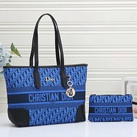 Christian Dior New Products Fully Printed Embroidered Letters Ladies Shopping Handbag Two-piece Shoulder Bag
