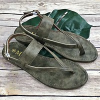 Taupe Gray Sandals