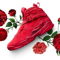 Free Shipping Nike Air Jordan 8 VIII Retro VDAY Valentines Day Gym Red AQ244914 Basketball Sneaker
