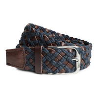 Braided Leather Belt - from H&M