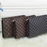 Louis Vuitton LV Fashion Leather Clutch Bag Tote Satchel