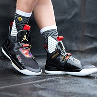 Jordan 33 Fashion New running sports leisure shoes men Black