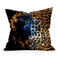 Caleb Troy Leopard Storm Throw Pillow