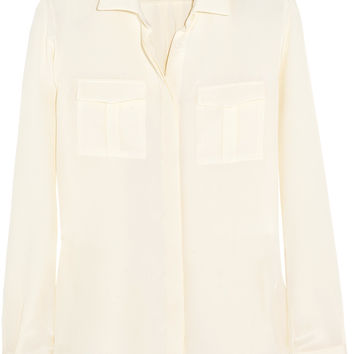 Silk-crepe shirt   Valentino   US   THE OUTNET