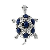 Mixit® Silver-Tone Blue Turtle Ring