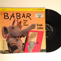 Vinyl Record Frank Luther Babar Songs And Stories LP Album Babar and Father Christmas