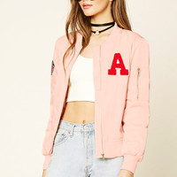 Flag Patch Bomber Jacket