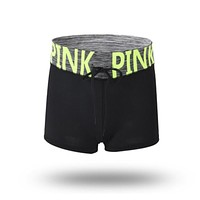 Pink Print Elasticity Women Shorts Breathable Quick-drying Fitness Female Shorts Drop Shipping