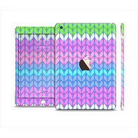 The Bright-Colored Knit Pattern Full Body Skin Set for the Apple iPad Mini 3