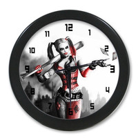 Harley Quinn Background Wall Clock!Nice Room Decoration = 1927907716