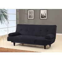 Barcelona Convertible Futon Sofa Bed and Lounger with Pillows, Multiple Colors - Walmart.com