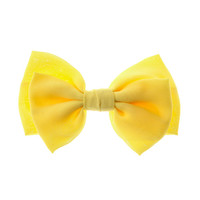 Large Yellow Bow Hair Clip