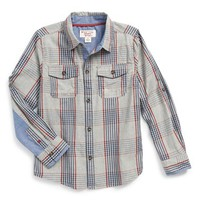 Boy's Original Penguin Plaid Woven Shirt,
