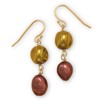 Cultured Freshwater Pearl and Glass Bead Fashion Earrings