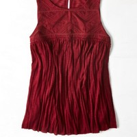 AEO Women's Embroidered Crinkle Tank