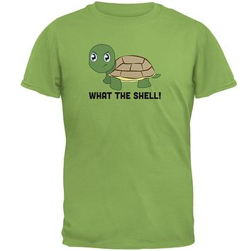 Turtle What The Shell Funny Pun Cute Mens T Shirt