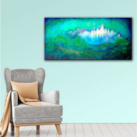 ArtWall 'Shadia Zayed's Into The Ocean' Gallery Wrapped Canvas | Overstock.com Shopping - The Best Deals on Gallery Wrapped Canvas
