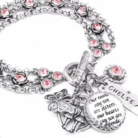 Birthstone Sister Jewelry - Sister Charm Bracelet - Personalized Sister's Gift