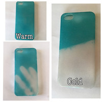 Colour changing iphone case, iphone 5 case, heat sensitive,colour changing iphone 5 case, iphone 6 case, cool phone cases, iphone case, blue