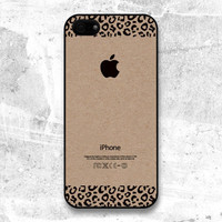 iPhone 5 case - Kraft Leopard Pattern cases, iPhone Case, iPhone 5 Case, Cases for iPhone 5, Hard iPhone 5 Case