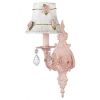 Jubilee Collection Wall Lighting  Wall Sconce with White/Pink Net Flower Shade in Pink - 820006_2075 - Wall Lighting - Lighting