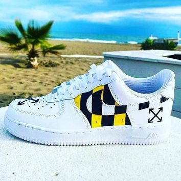 Off-white x Nike Air Force 1 Low casual fashion men's and women's skateboard shoes