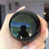 Black Obsidian Sphere Perfect for as Scrying, Altar Tool, Fortune Telling