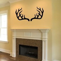 Housewares Vinyl Decal Deer Antler Horns Home Wall Art Decor Removable Stylish Sticker Mural Unique Design for Bed Nursery Room