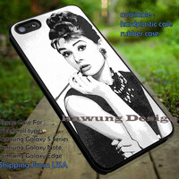 Audrey Hepburn Photography Art Vintage Retro Classic iPhone 6s 6 6s+ 5c 5s Cases Samsung Galaxy s5 s6 Edge+ NOTE 5 4 3 #movie #actrees #adh dt