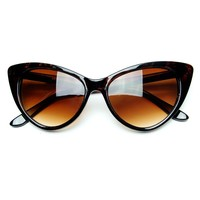 grinderPUNCH Super Cateyes Vintage Inspired Fashion Mod Chic High Pointed Cat-Eye Sunglasses