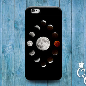 iPhone 4 4s 5 5s 5c 6 6s plus + iPod Touch 4th 5th 6th Gen Lunar Moon Collage Cover Cute Custom Space Black Phone Case Astrology Astronomy