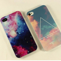 Triangle Cloud Sky/Stars Case for iPhone 4 4S from http://www.looback.com/