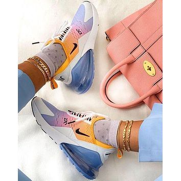 Nike Air Max 270 Rainbow Sneakers Sport Shoes