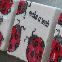 Make a Wish Lucky Ladybug Magnets, Set of 3