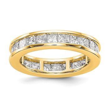 3 Ct. Channel Set Princess Cut Diamond Eternity Wedding Band Ring 14k Yellow Gold