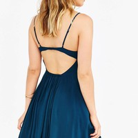 Silence + Noise Noir Teal Strappy Dress - Urban Outfitters