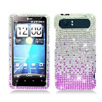 Full Diamond Bling Hard Shell Case for HTC Vivid / Holiday AT&T- Purple Waterfall