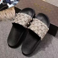 Gucci GG with pearls Slides Slippers